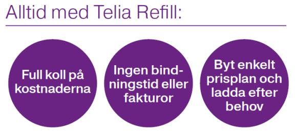 Telia refill komplett halvår