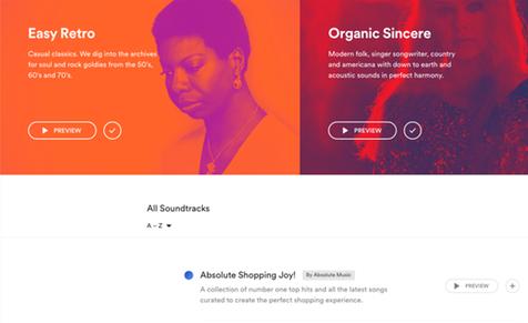 Spotify Business unika spellistor för företag