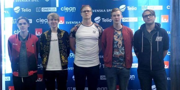 Team Goobsquad med Backlund, Flaxxish, Viking, Treatz och Cookie.